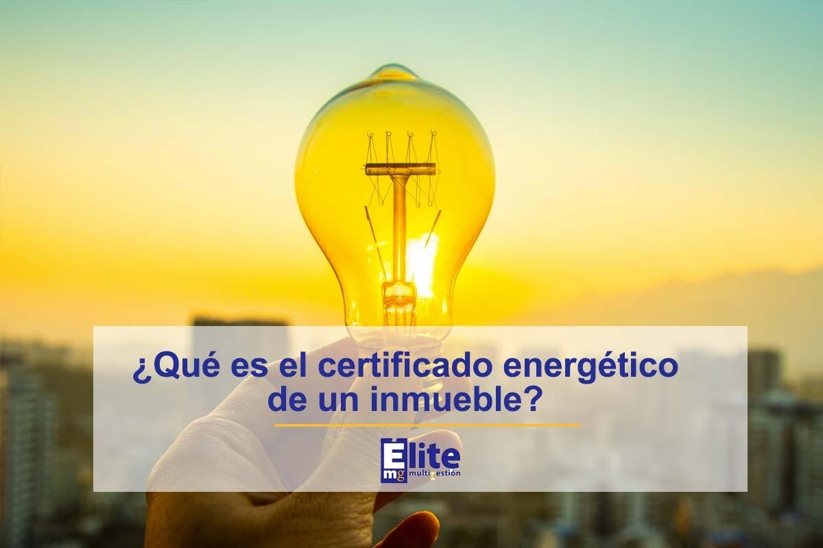 certificado energetico qué es